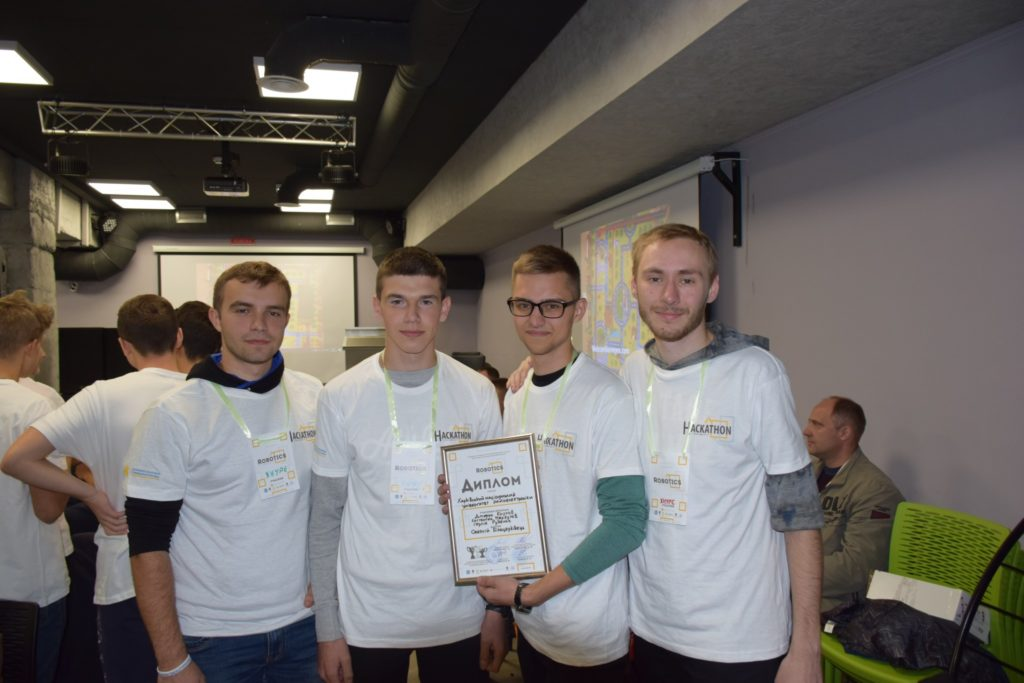 The team of the MTS Department of KNURE took second place in the IT-scout hackathon in the Smart City robotics in the city of Vinnitsa