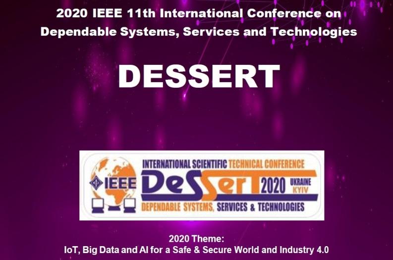 Преподаватели кафедры приняли участие в конференции DESSERT'2020