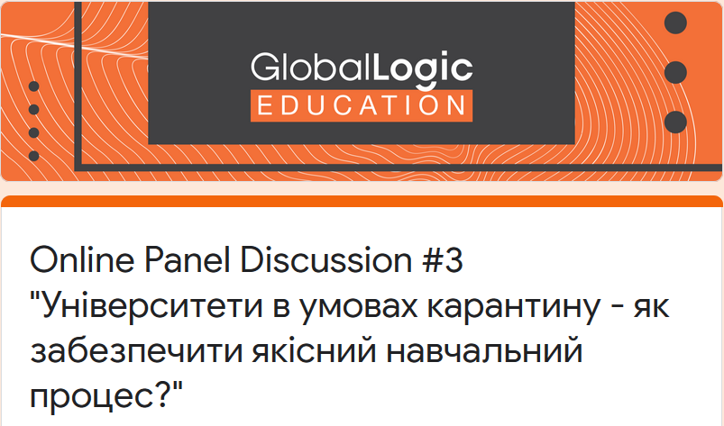 Online Panel Discussion # 3: Quarantined Universities – How to Ensure a Quality Learning Process?