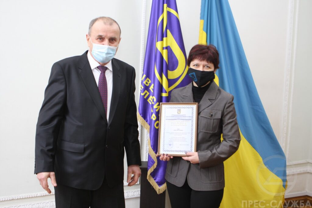 An employee of the MTS Department was awarded the Gratitude of the Ministry of Education and Science of Ukraine