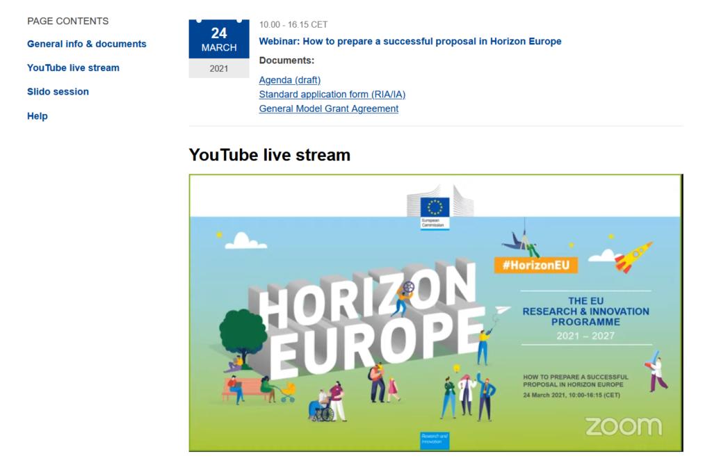 Участие в вебинаре «Как подготовить удачное предложение в Horizon Europe»